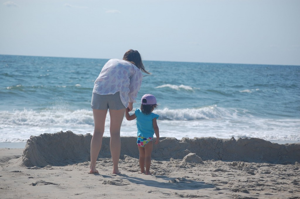 me and Baby at the beach