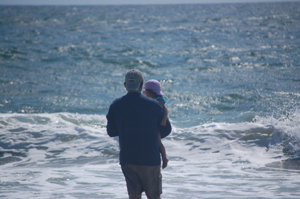 M and Baby at the beach