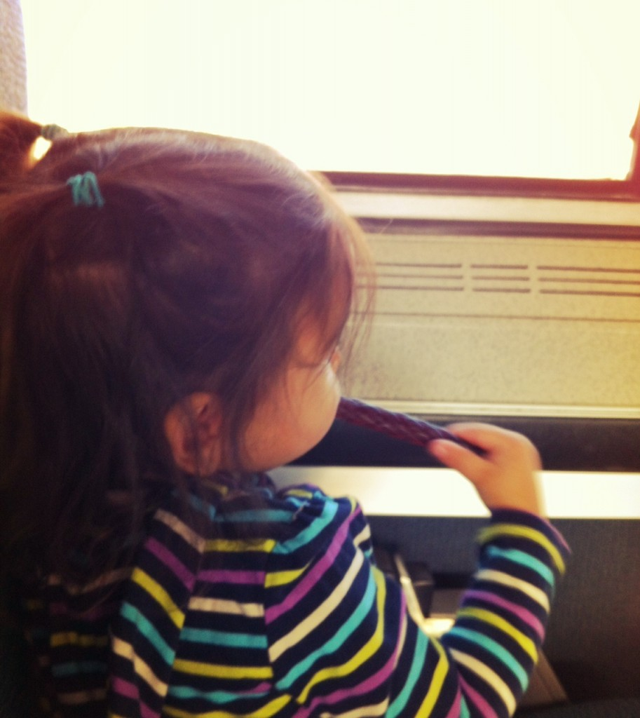 baby on the train