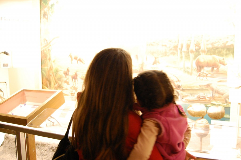 mommy and baby at the museum