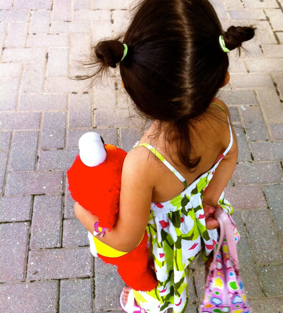little girl with elmo