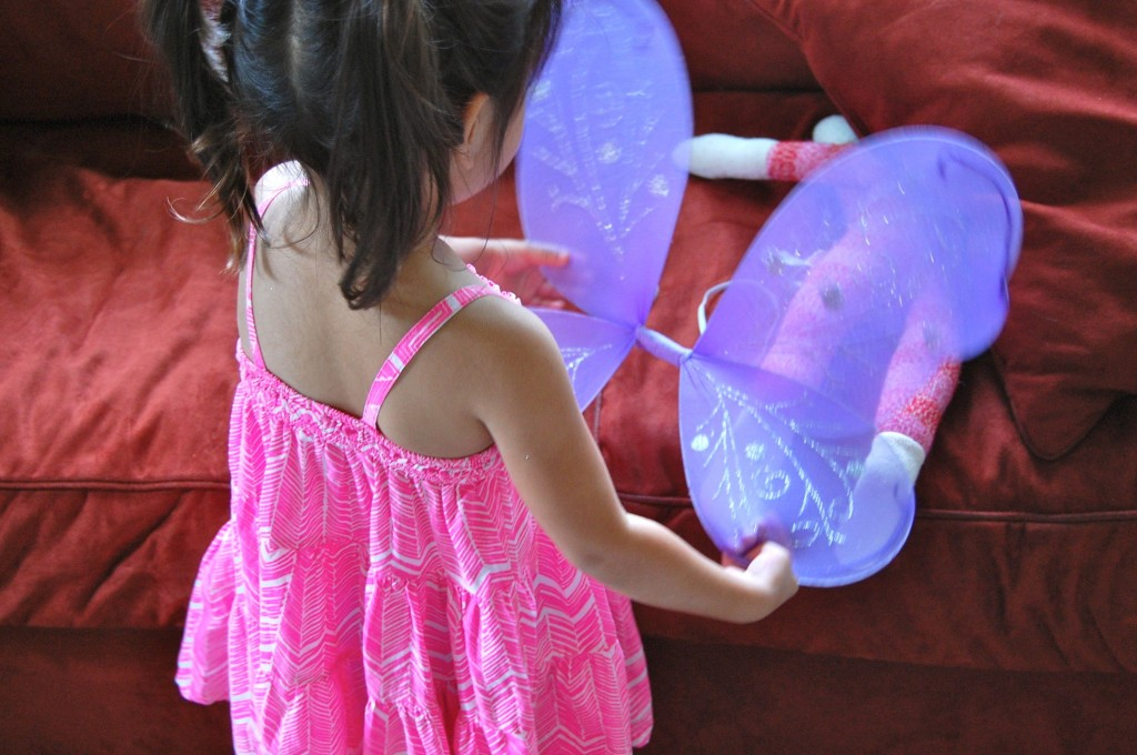 girl and butterfly wings