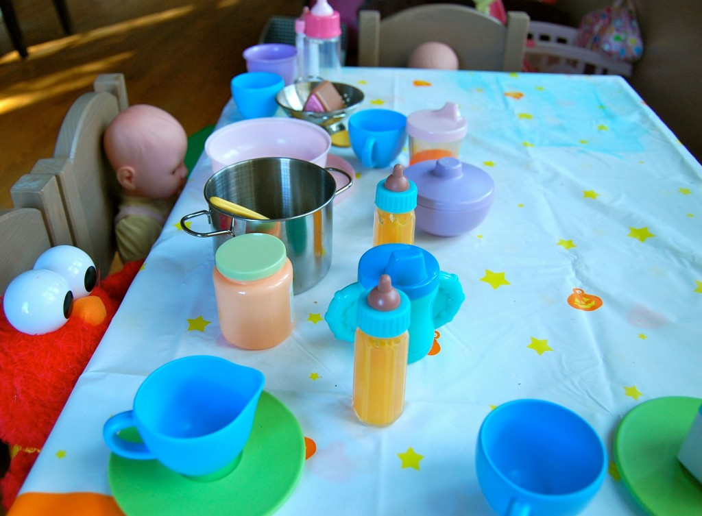 table set for tea party