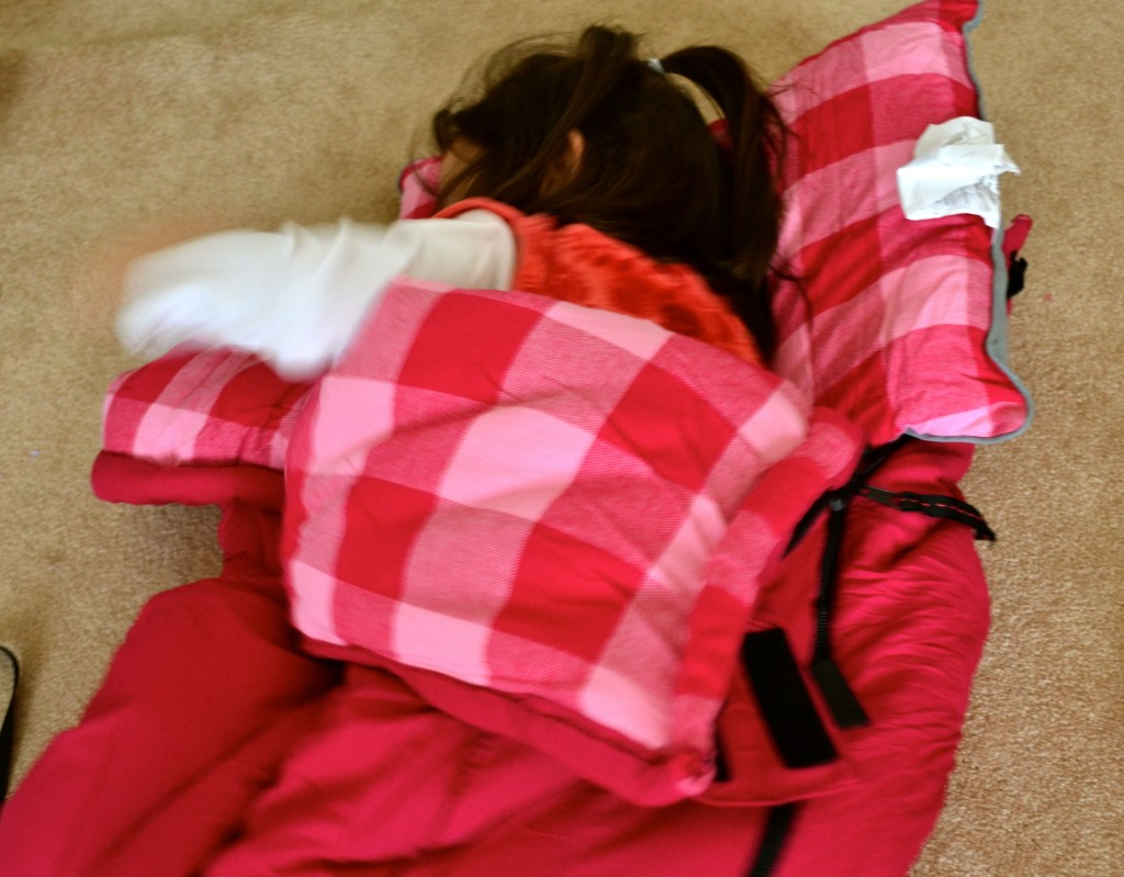new sleeping bag - one of many favorite gifts