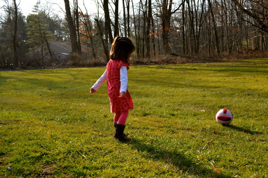 girl and ball