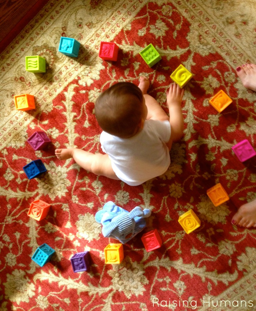 baby and blocks