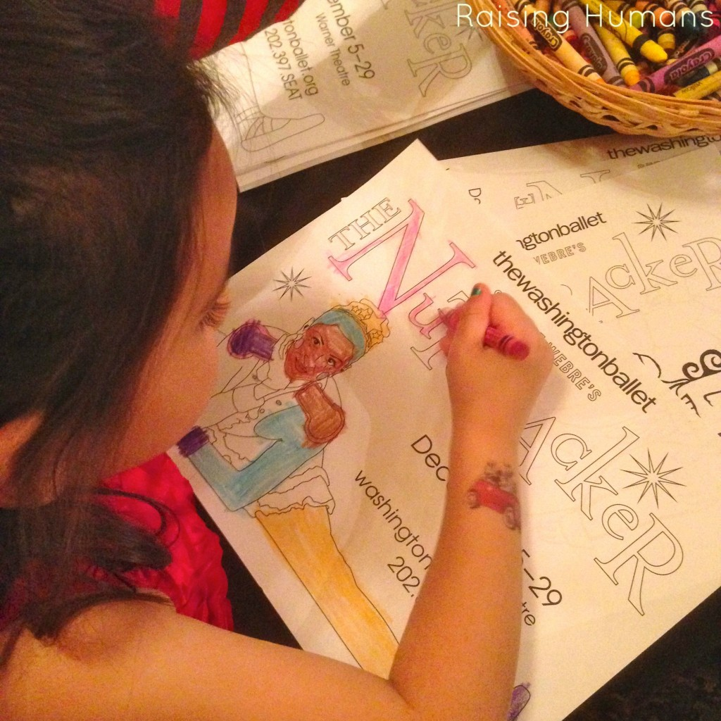 coloring at nutcracker