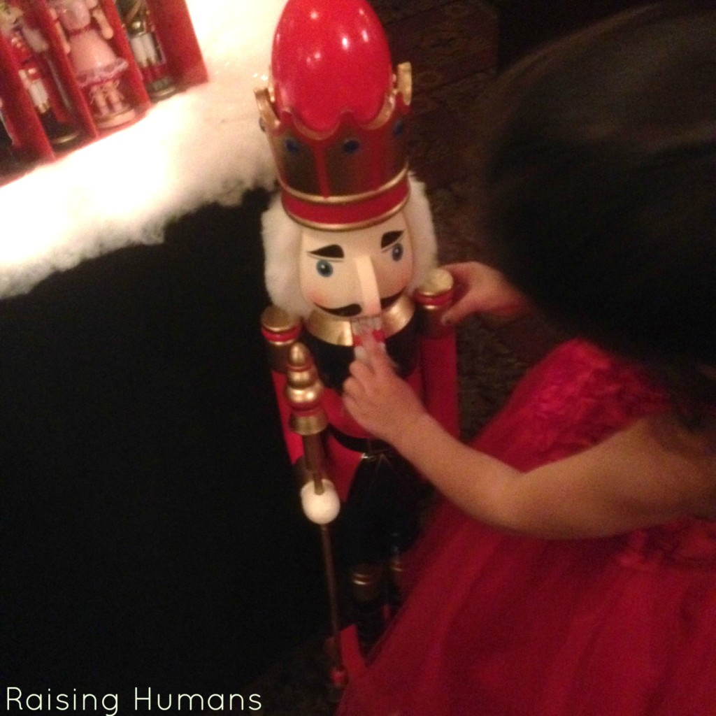 playing with nutcracker