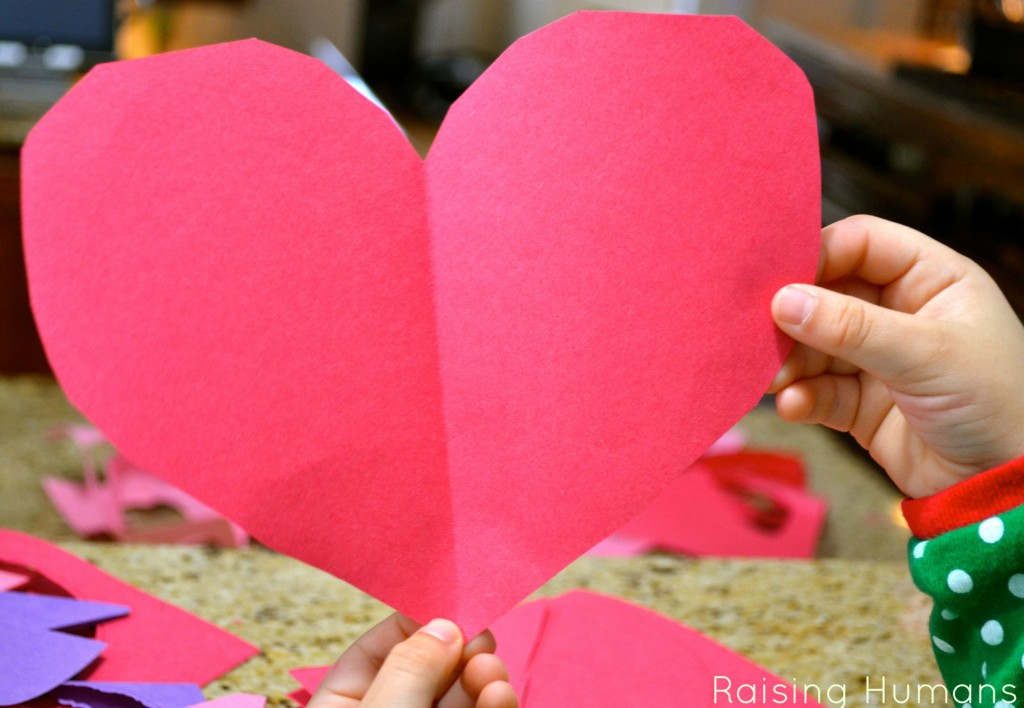 construction paper heart