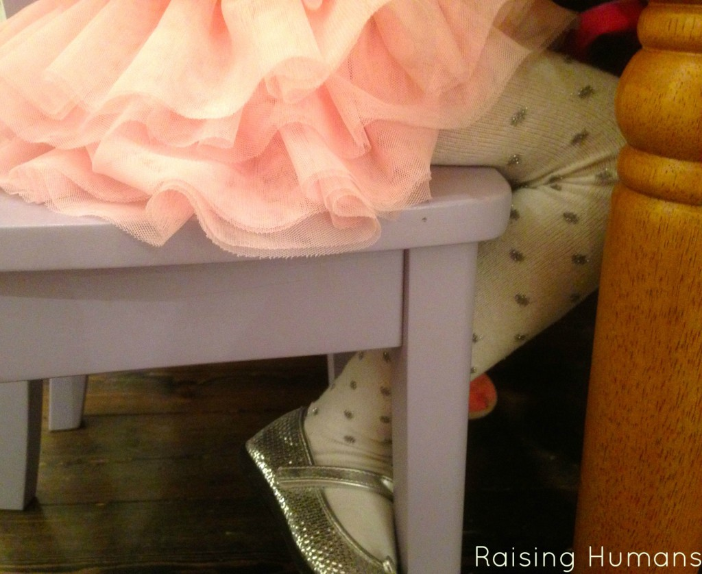 tutu and sparkly shoes