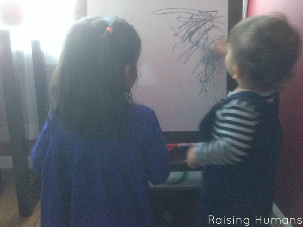 drawing on the easel