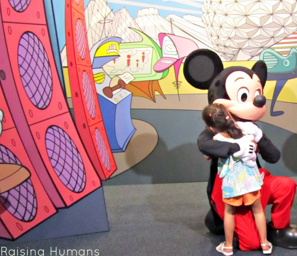 girl and mickey