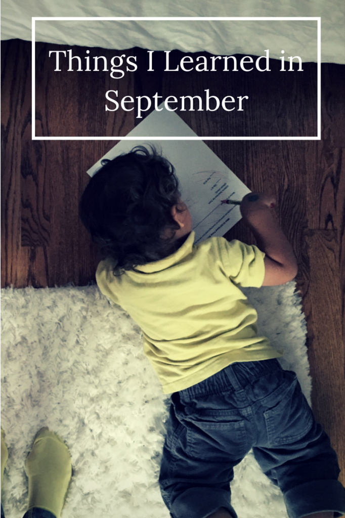 Things I learned inSeptember
